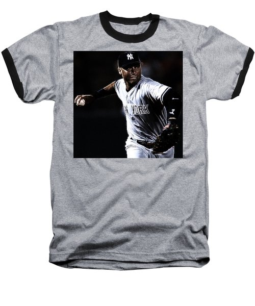 Derek Jeter Baseball T-Shirt by Paul Ward