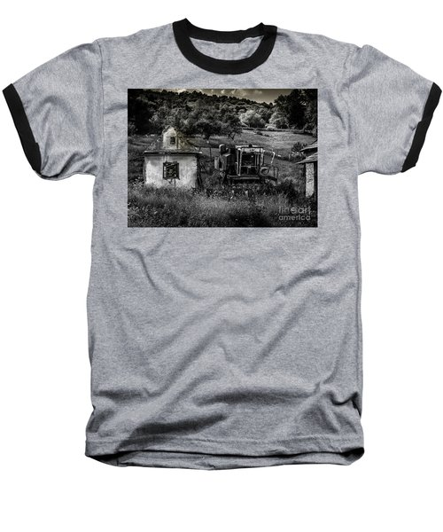 Baseball T-Shirt featuring the photograph Derelict Farm, Transylvania by Perry Rodriguez