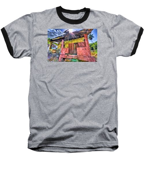 Derelict House Baseball T-Shirt by Nadia Sanowar
