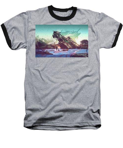 Derelict Ship Baseball T-Shirt