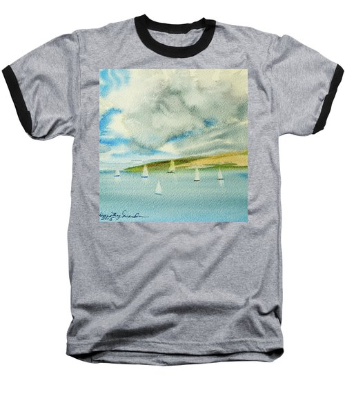Dark Clouds Threaten Derwent River Sailing Fleet Baseball T-Shirt
