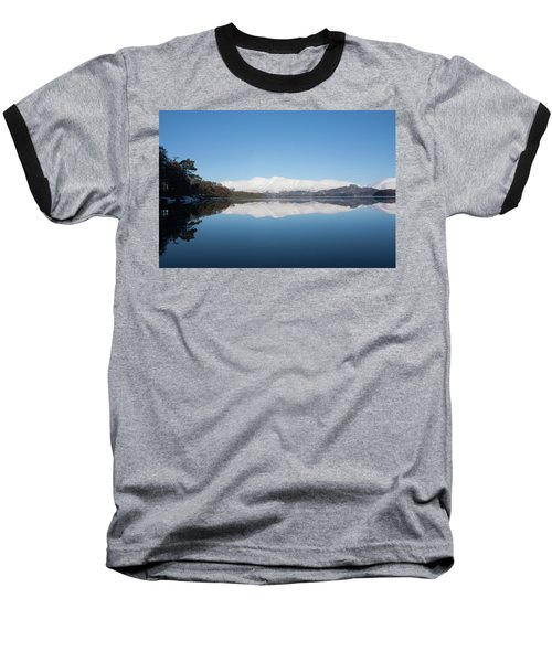 Derwentwater Winter Reflection Baseball T-Shirt