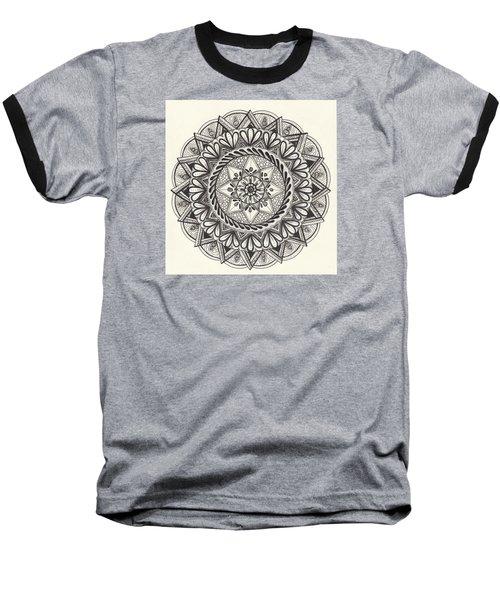 Des Tapestry Medallion Baseball T-Shirt by Kathy Sheeran