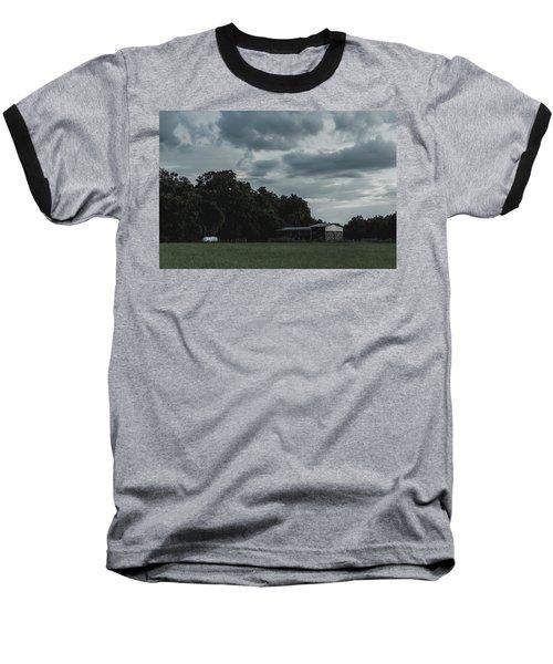 Desaturated Barn Baseball T-Shirt