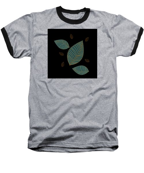 Baseball T-Shirt featuring the drawing Descending Leaves by Kandy Hurley
