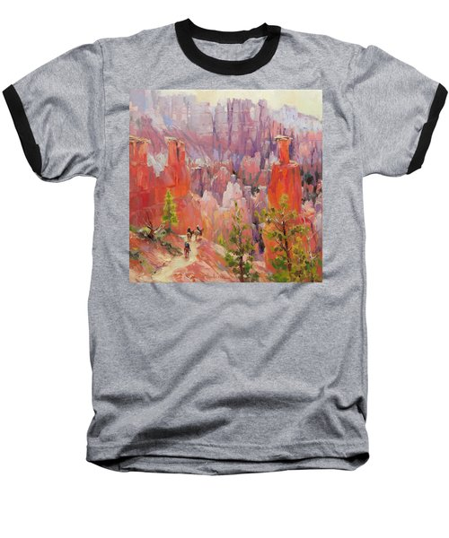 Descent Into Bryce Baseball T-Shirt