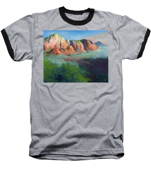 Desert Afternoon Mountains Sky And Trees Baseball T-Shirt