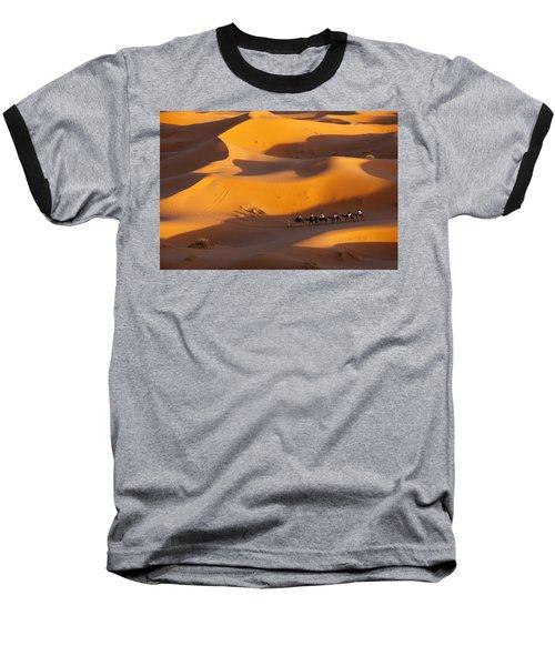 Desert And Caravan Baseball T-Shirt by Aivar Mikko