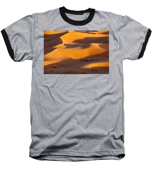 Desert And Caravan Baseball T-Shirt