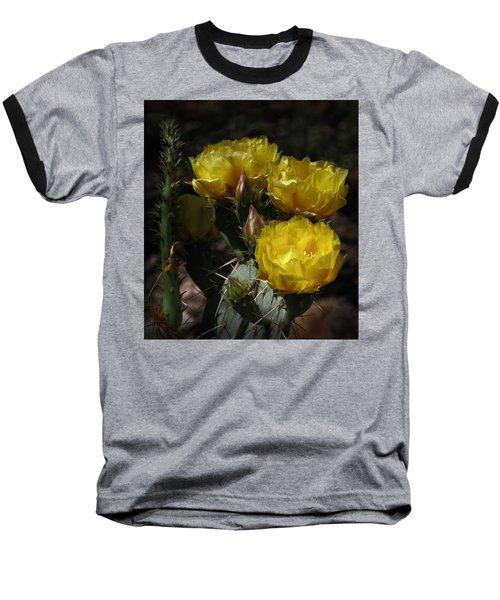 Desert Blooming Baseball T-Shirt by Elaine Malott