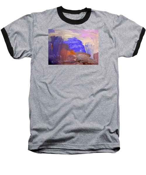 Baseball T-Shirt featuring the painting Desert By Hannah by Fred Wilson