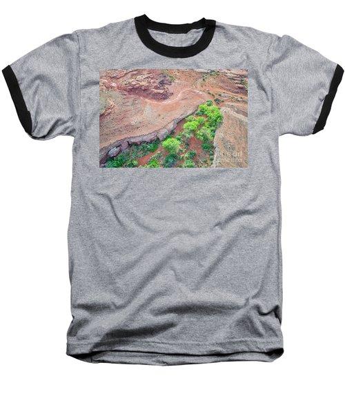 desert canyon in Utah aerial view Baseball T-Shirt
