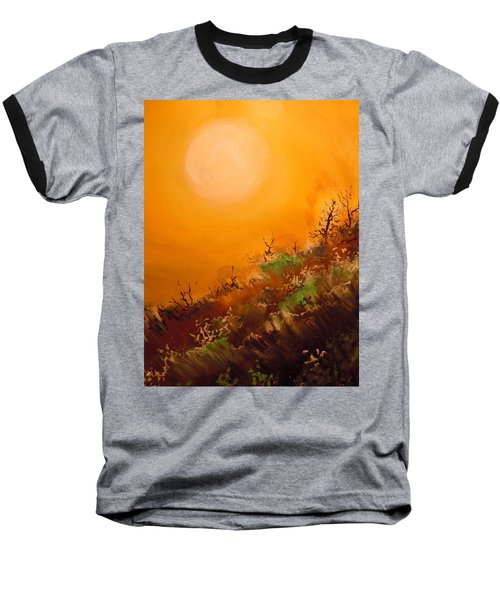 Baseball T-Shirt featuring the painting Hot Desert  Evening  by Dan Whittemore