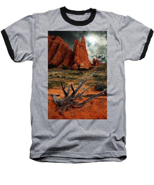 Baseball T-Shirt featuring the photograph Desert Floor by Harry Spitz