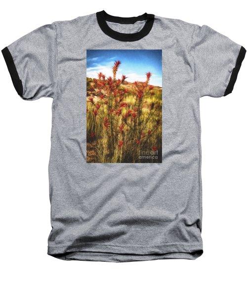 Desert Flora  ... Baseball T-Shirt by Chuck Caramella