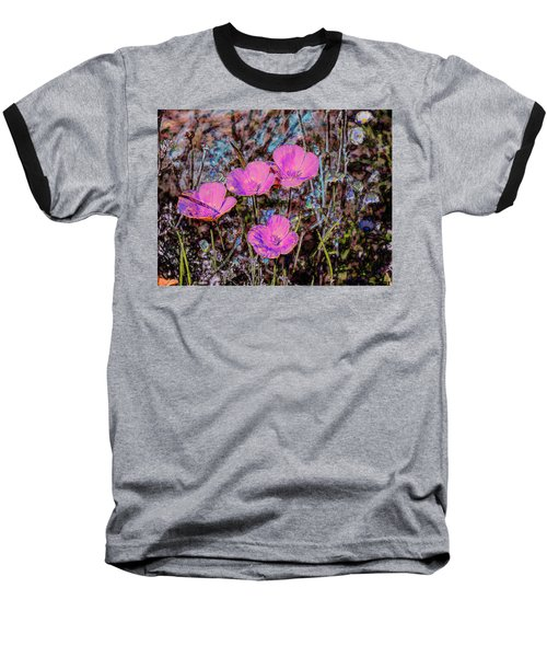 Baseball T-Shirt featuring the photograph Desert Flowers Abstract by Penny Lisowski