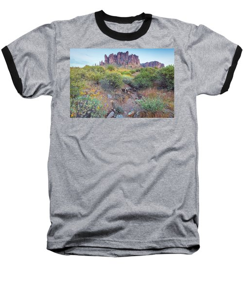 Desert Flowers Baseball T-Shirt