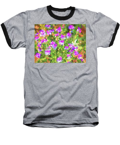 Desert Flowers In Abstract Baseball T-Shirt by Penny Lisowski