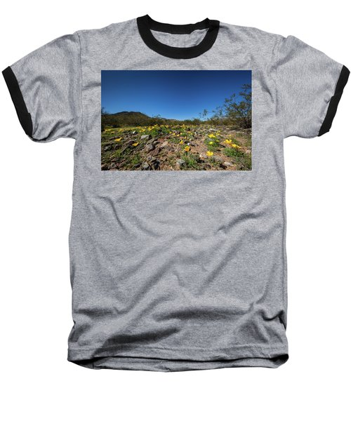 Desert Flowers In Spring Baseball T-Shirt by Ed Cilley