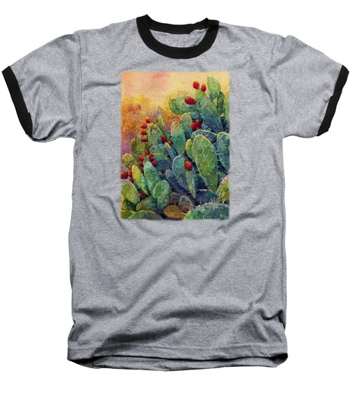 Baseball T-Shirt featuring the painting Desert Gems 2 by Hailey E Herrera