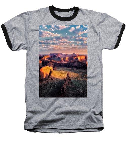 Desert Glow   Baseball T-Shirt by Nicki Frates