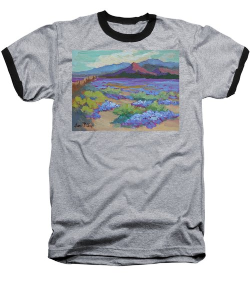 Baseball T-Shirt featuring the painting Desert In Bloom by Diane McClary