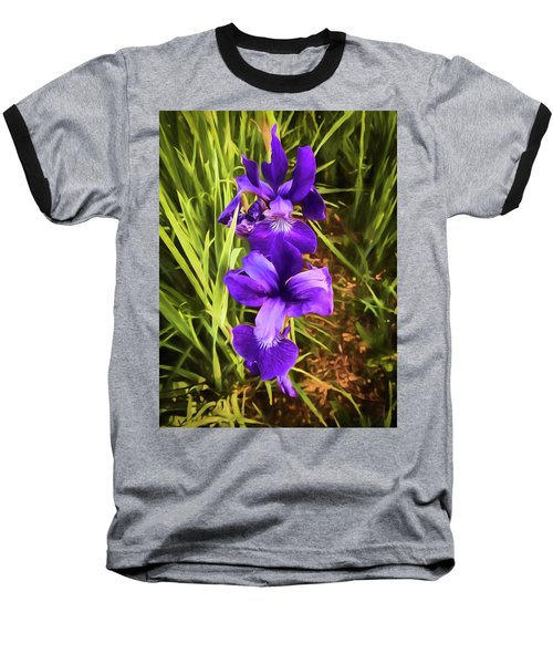 Baseball T-Shirt featuring the photograph Desert Iris by Penny Lisowski