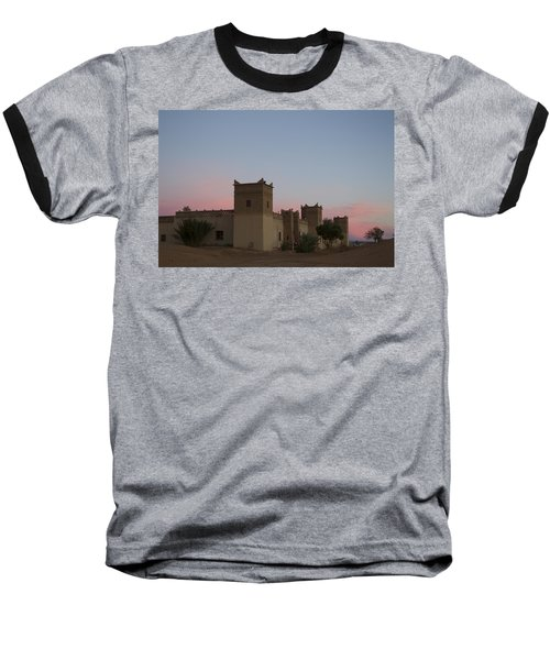 Baseball T-Shirt featuring the tapestry - textile Desert Kasbah Morocco by Kathy Adams Clark