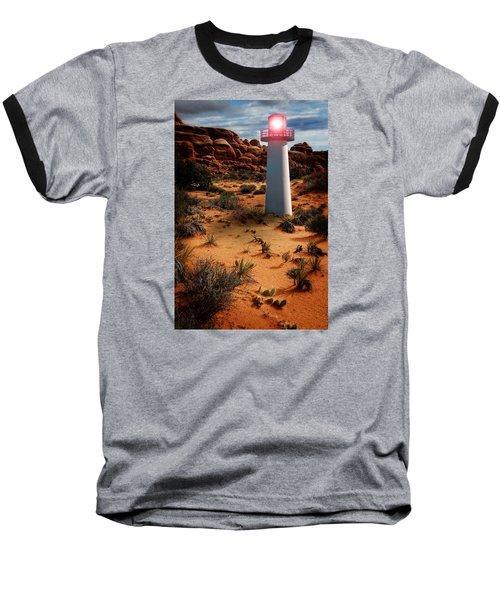Desert Lighthouse Baseball T-Shirt