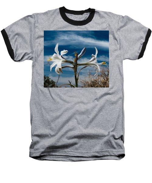 Desert Lilly Close Up Baseball T-Shirt