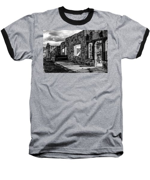 Desert Lodge Bw Baseball T-Shirt