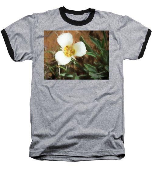 Desert Mariposa Lily Baseball T-Shirt by Penny Lisowski