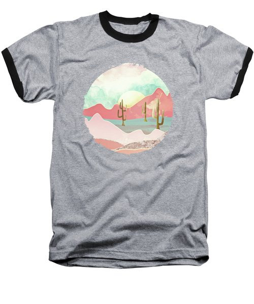 Desert Mountains Baseball T-Shirt by Spacefrog Designs
