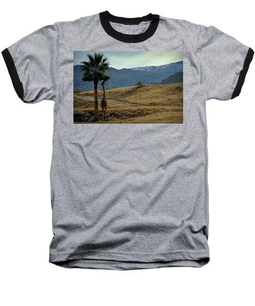 Desert Palm Giraffe 001 Baseball T-Shirt