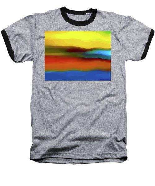 Desert River Landscape Baseball T-Shirt