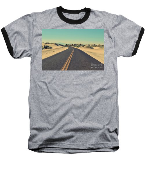 Baseball T-Shirt featuring the photograph Desert Road by MGL Meiklejohn Graphics Licensing