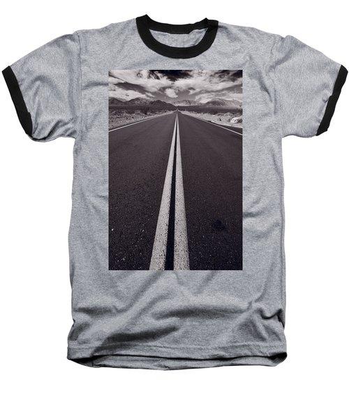 Desert Road Trip B W Baseball T-Shirt