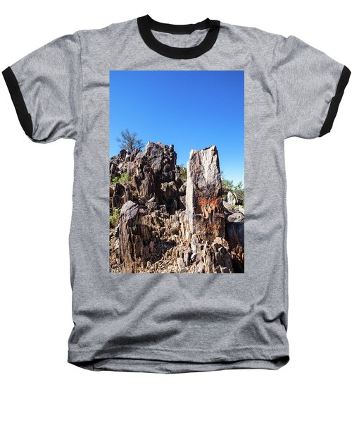 Desert Rocks Baseball T-Shirt by Ed Cilley