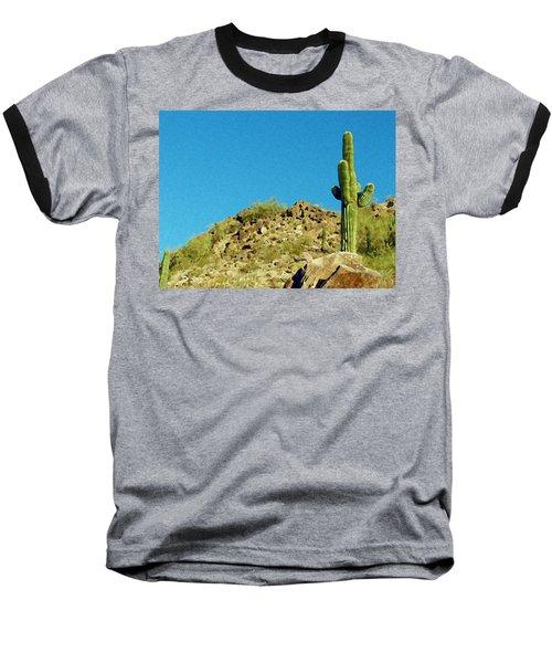 Desert Sky Baseball T-Shirt by Judi Saunders
