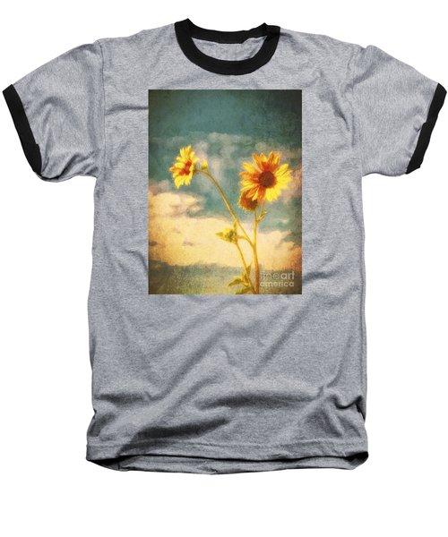 Baseball T-Shirt featuring the photograph Desert Sunflower  ... by Chuck Caramella