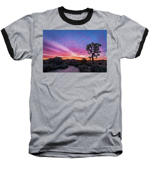 Desert Sunrise At Joshua Tree Baseball T-Shirt