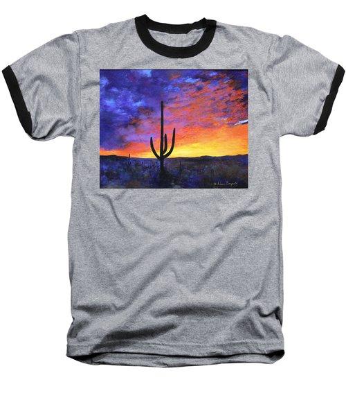 Desert Sunset 4 Baseball T-Shirt