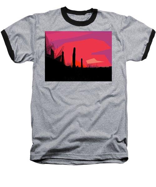 Desert Sunset In Tucson Baseball T-Shirt