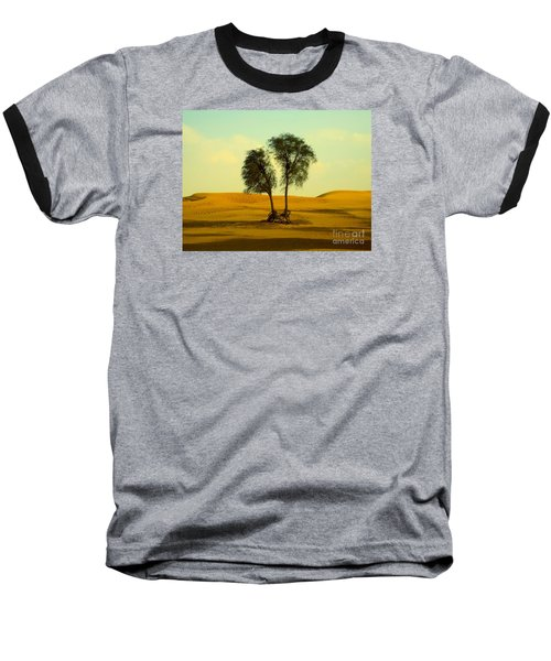 Desert Trees Baseball T-Shirt