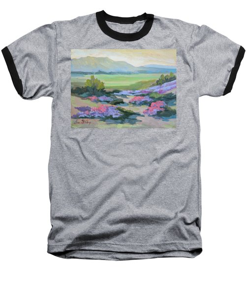 Baseball T-Shirt featuring the painting Desert Verbena 1 by Diane McClary