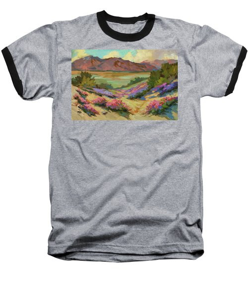 Desert Verbena At Borrego Springs Baseball T-Shirt by Diane McClary