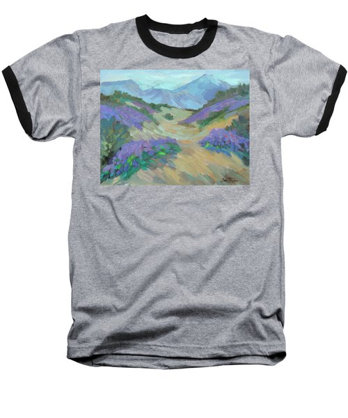 Baseball T-Shirt featuring the painting Desert Verbena by Diane McClary