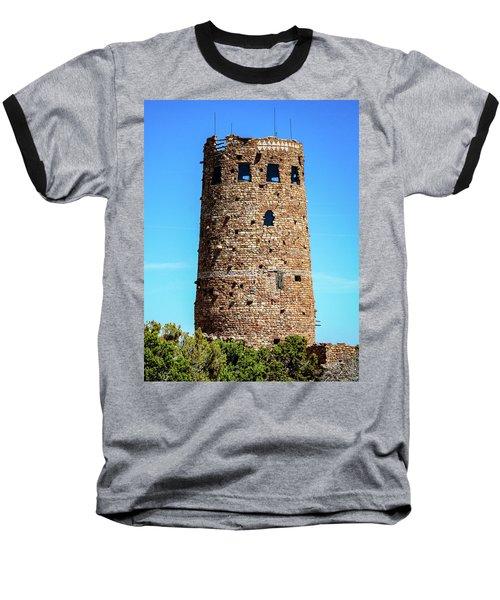 Desert View Watchtower At The Grand Canyon Baseball T-Shirt