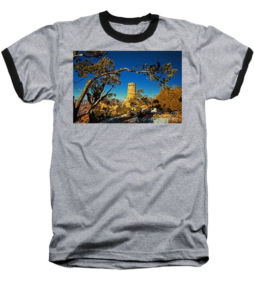 Desert View Watchtower, Grand Canyon National Park, Arizona Baseball T-Shirt