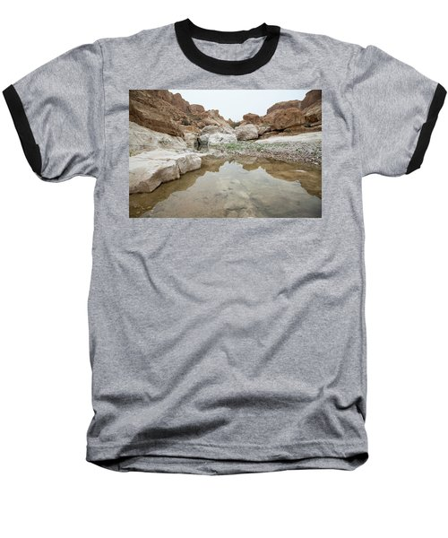 Desert Water Baseball T-Shirt by Yoel Koskas